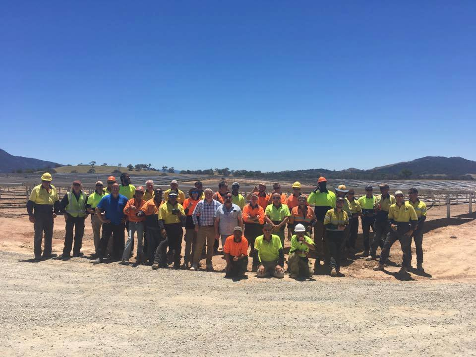 Williamsdale Solar Farm Labour Hire Team